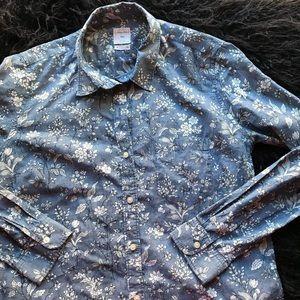 GAP Floral Chambray Button-down Shirt